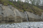 Heavily eroded bank, now a cliff. The A66 passes close by above.