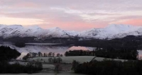 Dawn view over Derwentwater to Cat Bells