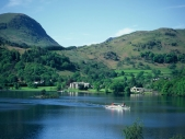 Ullswater, steamer leaving Glenridding