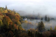 Patterdale Hall surrounded by mist