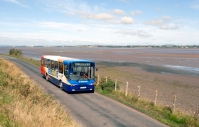 Local bus on the Solway Coast