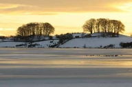 Talkin Tarn, covered in ice and snow