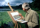 Loughrigg Tarn, artist painting