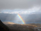 Rainbow as seen from Quinag