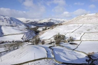 Snow-covered scene in Martindale looking towards Sandwick ...